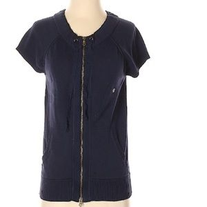 Eddie Bauer Navy ZIP Cardigan sweater
